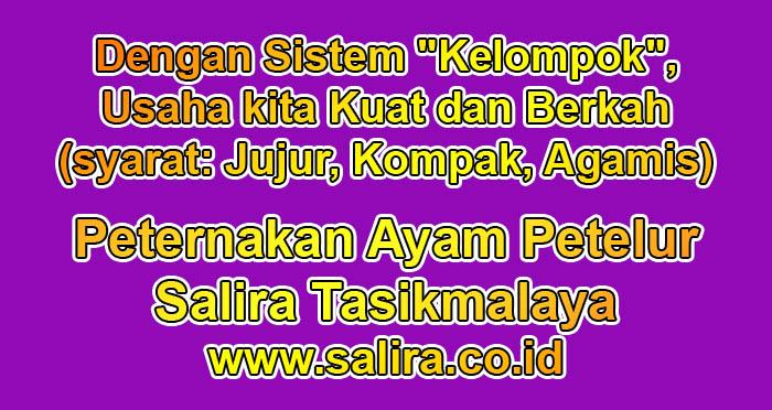 """Dengan Sistem """"Kelompok"""", Usaha kita Kuat dan Berkah (syarat: Jujur, Kompak, Agamis)"""