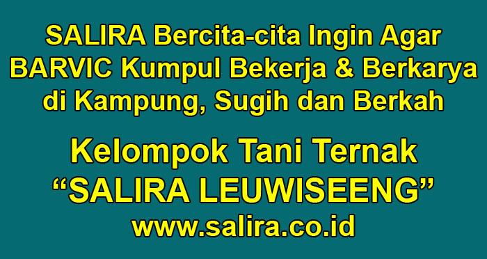SALIRA Bercita-cita Ingin Agar BARVIC Kumpul Bekerja & Berkarya di Kampung, Sugih dan Berkah