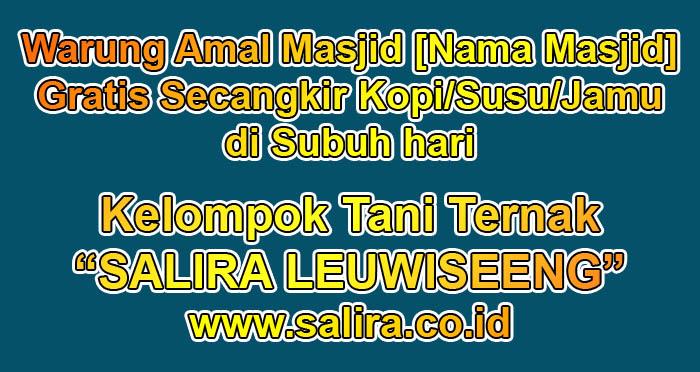 Warung Amal Masjid [Nama Masjid] - Gratis Secangkir Kopi/Susu/Jamu di Subuh hari