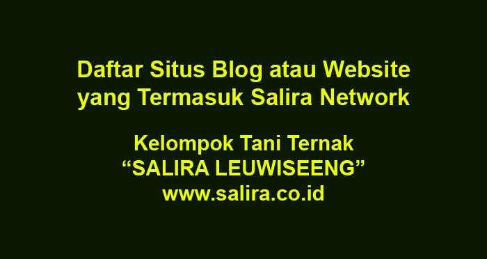 Daftar Situs Blog atau Website yang Termasuk Salira Network